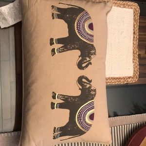 Elephant accent pillow